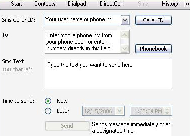 Sending text messages (SMS) via DiscountVoip is easy and cheap!